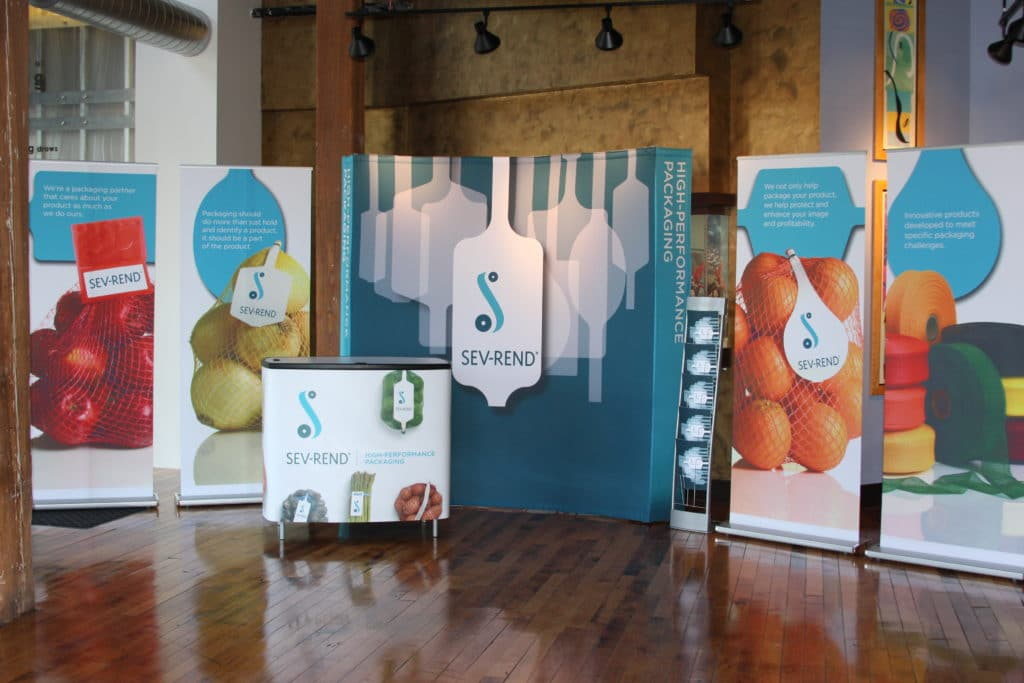 This exhibit completed by PRO Expo uses colorful graphics images to create a clean and striking look throughout.